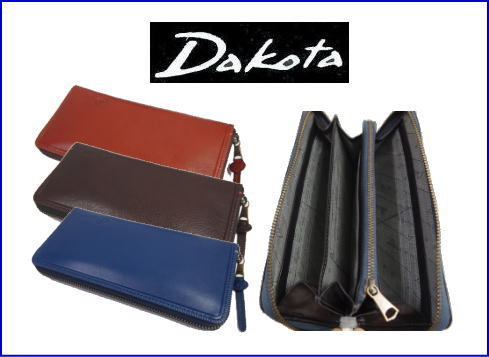 Dakotaダコタ アントニオラウンド式長財布