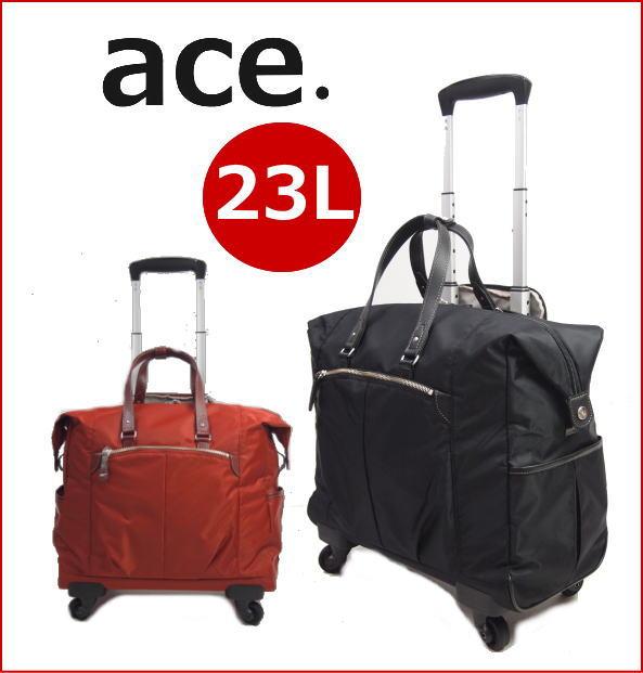 ace.TOKYOエース フェミエリーTRヨコ型キャリーバッグ 4輪キャスター 23L機内持ち込み適応