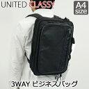 ビジネスリュック 3way/PC対応 UNITED CLASSY 3WAY ビジネリュック A4ファイル収納OK【6030】/リュックサック ビジネス メンズ ブリー…