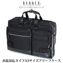 【23-5516】BAGGEX LIGHTNING バジェックス ライトニング 盗難防止機能付き A3サイズ ブリーフケース(出張対応タイプ)【代引手数料/送…