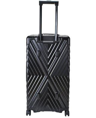 スーツケースLサイズキャリーケース[8439]TRDティーアールディ96リットルカーボン柄大型4輪キャリーケースポリカーボネートプラススーツケース5泊〜1週間丈夫キャリーバッグメンズ出張旅行海外旅行長期旅行