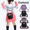 縦型 ミニショルダー 女の子 [hyt-510 ]Garland ガーランド テープロゴシリーズ タテ型ショルダー キッズ かわいい 斜めがけバッグ お…