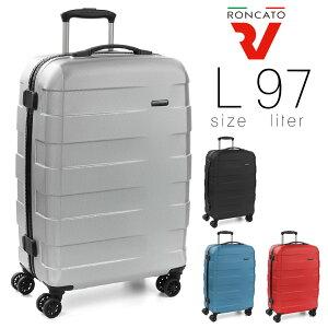 スーツケース Lサイズ メンズ キャリーケース RONCATO ロンカート RV-18 旅行 出張 大型 97L ポリカーボネート ハード ファスナータイプ イタリア製 縦型 TSAロック 4輪 軽量 メンズバッグ ブランド