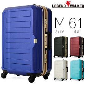 【全商品クーポン配布中】スーツケース メンズ キャリーケース Legend Walker レジェンドウォーカー HARD CASE ハードケース キャリーバッグ 旅行 出張 ポリカーボネート TSAロック 4輪 メンズバッグ 送料無料 men's