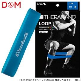 【D&M】TLB-4 セラバンドループ ブルー 強度:エクストラヘビー/レベル:+2 ブリスターパック トレーニングトレーニング用品 筋トレ シェイプアップ リハビリ 各種トレーニング ギフト 通販 プレゼント