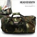 幅51cmの大容量。スポーツや旅行に! ボストンバッグ HEAD SOUTH BOT-12 カモフラ 迷彩柄ロールボストンショルダーベ…