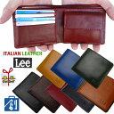 【Lee リー 財布】イタリアンレザー 折財布 0520233 メンズ 本革 財布 メンズ 二つ折り 紳士 二つ折り 財布 メンズ 二…