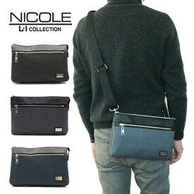 NICOLE ニコル バッグ ショルダーバッグ セカンドバッグ クラッチバッグ メンズ ギフト かっこいい おしゃれ プレゼント ブランド A4 22-NIL227 NIL227 父の日ギフト