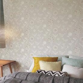 【 壁紙 のりなし 】 壁紙 のりなし パターン 北欧風 ライトグレー 防かび リリカラ LL-5235