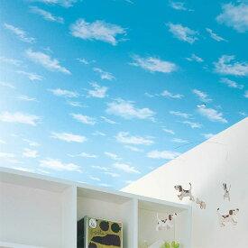 【 壁紙 のりなし 】 壁紙 のりなし パターン 青空 雲 防かび リリカラ LL-5249