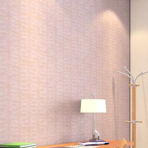 【 壁紙 のりなし 】 壁紙 のりなし クロス イラスト リボン ピンク 防かび サンゲツ RE-8010