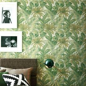 【 壁紙 のり付き 】 壁紙 のりつき クロス フラワー・リーフ ボタニカル ジャングル グリーン リーフ 防かび サンゲツ RE-8026