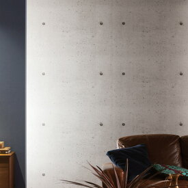【 壁紙 のり付き 】 壁紙 のりつき クロス ウッド&ストーン コンクリート モルタル 防かび ルノン RH-4753