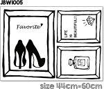 Frameseries:myfavorite(ハイヒール)フレームシリーズ壁デコシールウォールステッカーインテリアアートシールアート額縁ヴィンテージアンティーク壁紙シールおしゃれ
