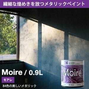 【メタリックペイント】Moire モアレ ペンキ 0.9L 1クォート 塗料 上塗り用ペンキ 選べる84色 カラーワークス ペンキメタリック 水性ペンキ 水性 塗料 ペンキ 壁紙 陰影 光沢 反射 光る キラキラ