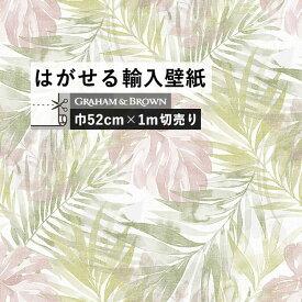 はがせる 輸入 壁紙 52cm×1m単位 切り売り のりなし クロス 国内在庫ですぐ発送 ボタニカル 水彩 淡色 インポート 壁紙 イギリス Graham & Brown (Shanghai) Trading Co., Ltd / グラハム・アンド・ブラウン