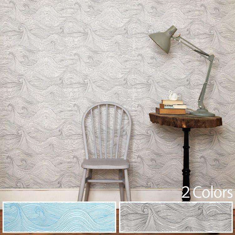 輸入壁紙 イギリス製 Seascape / アビゲイル・エドワーズ (1ロール(52cm×10m)単位で販売)紙系壁紙 【国内在庫品】【あす楽対応】