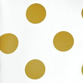 輸入壁紙の切り売り(横巾52cm×1m単位で切売)GRAHAM & BROWN グラハム・アンド・ブラウン Dotty Gold 100105