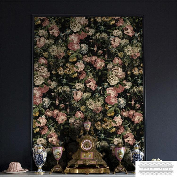 輸入壁紙 イギリス製 House of Hackney / ハウス・オブ・ハックニー 1セット(45cm×3m×4枚)単位で販売)フリース壁紙(不織布) 【当店在庫品】【あす楽対応】 .