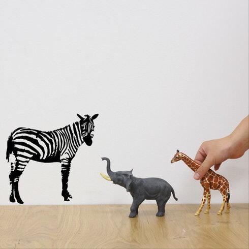【即日発送可能】本舗オリジナルステッカーしまうま「Zebra」FP-0004B 全16色【すぐ発送可能!】【POSH】※メーカー直送商品【メーカー直送のため代引き不可】