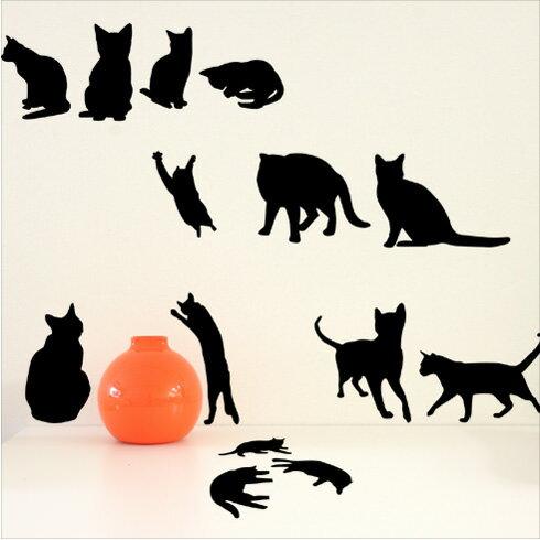 【即日発送可能】本舗オリジナルステッカーねこの詰め合わせ「Cats」FP-0093E 全16色【すぐ発送可能!】【POSH】※メーカー直送商品【メーカー直送のため代引き不可】