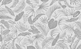 アートパネル 10cm単位でサイズオーダーできる 絵画 壁掛け インテリア 壁飾り キャンバス アート ウォール トロピカル ボタニカル 葉 植物 灰色 グレー e319924 壁紙屋本舗