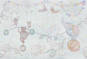 アートパネル 10cm単位でサイズオーダーできる 絵画 壁掛け インテリア 壁飾り キャンバス アート ウォール サーカス 動物 クマ ゾウ ウサギ 一輪車 玉乗り 空中ブランコ ガーランド キッス