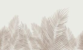 アートパネル 10cm単位でサイズオーダーできる 絵画 壁掛け インテリア 壁飾り キャンバス アート ウォール パームリーフ 葉 植物 トロピカル ボタニカル 茶色 ブラウン ベージュ e321953