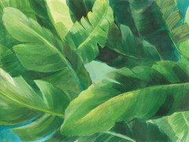 アートパネル 10cm単位でサイズオーダーできる 絵画 壁掛け インテリア 壁飾り キャンバス アート ウォール 葉 植物 ボタニカル トロピカル パームリーフ ヤシの葉 緑 グリーン e319062