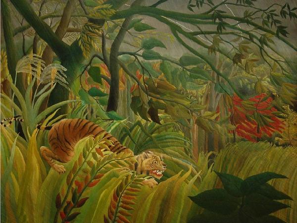 アート 絵画の壁紙アンリ・ルソー輸入 カスタム壁紙 PHOTOWALL / Rousseau, Henri - Tiger in a Tropical Storm (e10386)貼ってはがせるフリース壁紙(不織布)【海外取り寄せのため1カ月程度でお届け】【代引き不可】