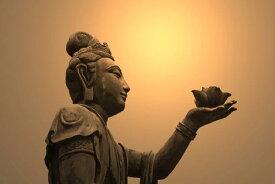 宗教 シンボル 仏 ブッダの壁紙 輸入 カスタム壁紙 PHOTOWALL / Buddhist Statue, Hong Kong (e19685) 貼ってはがせるフリース壁紙(不織布) 【海外取り寄せのため1カ月程度でお届け】 【代引き不可】