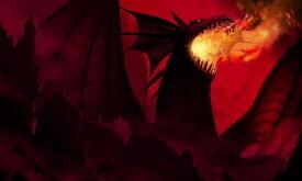 キッズ こども部屋 ファンタジー おとぎばなしの壁紙輸入 カスタム壁紙 PHOTOWALL / Dragon in Red (e20373)貼ってはがせるフリース壁紙(不織布)【海外取り寄せのため1カ月程度でお届け】【代引き不可】