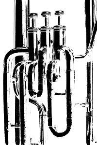 音楽 ミュージック 楽器の壁紙 輸入 カスタム壁紙 PHOTOWALL / Brass Horn Graphic - Tuba (e21334) 貼ってはがせるフリース壁紙(不織布) 【海外取り寄せのため1カ月程度でお届け】 【代引き不可】