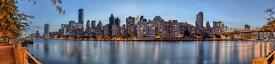 都市 都会 摩天楼 自然の壁紙輸入 カスタム壁紙 PHOTOWALL / New York Panorama at Dusk (e24532)貼ってはがせるフリース壁紙(不織布)【海外取り寄せのため1カ月程度でお届け】【代引き不可】