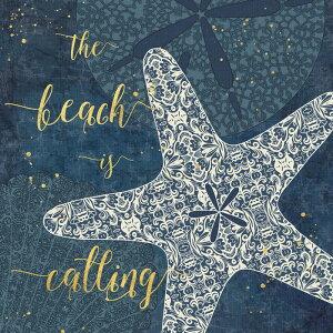 タイポグラフィー 文字 海 貝の壁紙 輸入 カスタム壁紙 PHOTOWALL / The Beach is Calling (e25777) 貼ってはがせるフリース壁紙(不織布) 【海外取り寄せのため1カ月程度でお届け】 【代引き・後払い不