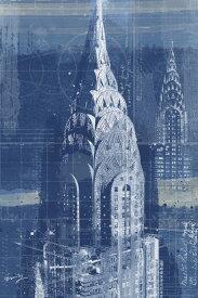 建築 建物 都市 都会 摩天楼の壁紙 輸入 カスタム壁紙 PHOTOWALL / Chrysler Bulding Blueprint (e29689) 貼ってはがせるフリース壁紙(不織布) 【海外取り寄せのため1カ月程度でお届け】 【代引き不可】 壁紙屋本舗