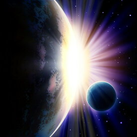 自然 宇宙の壁紙 輸入 カスタム壁紙 PHOTOWALL / Space Sunrise (e25864) 貼ってはがせるフリース壁紙(不織布) 【海外取り寄せのため1カ月程度でお届け】 【代引き・後払い不可】