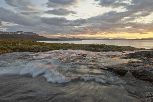 風景 景色 自然の壁紙輸入 カスタム壁紙 PHOTOWALL / Stream in Padjelanta National Park, Sweden (e40433)貼ってはがせるフリース壁紙(不織布)【海外取り寄せのため1カ月程度でお届け】【代引き不可】