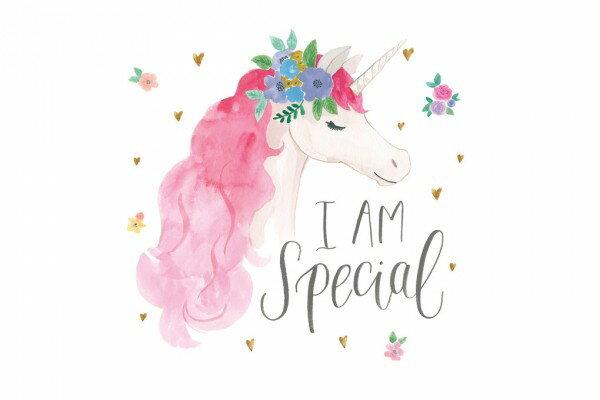 ユニコーン ゆめかわいい お花 ピンクの壁紙輸入 カスタム壁紙 PHOTOWALL / Magical Friends III (