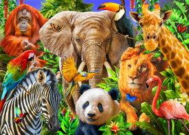 ライオン ゾウ キリン パンダ シマウマ オランウータン キッズ こども部屋の壁紙輸入 カスタム壁紙 PHOTOWALL / Animals for kids (e312324)貼ってはがせるフリース壁紙(不織布)【海外取り寄せのため1カ月程度でお届け】【代引き不可】