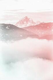 山 ピンク 雲の壁紙 輸入 カスタム壁紙 PHOTOWALL / Cloudy Mountain (e313433) 貼ってはがせるフリース壁紙(不織布) 【海外取り寄せのため1カ月程度でお届け】 【代引き不可】