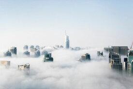 ドバイ 高層ビル 雲の壁紙 輸入 カスタム壁紙 PHOTOWALL / Dubai Skyscrapers Above the Clouds (e316223) 貼ってはがせるフリース壁紙(不織布) 【海外取り寄せのため1カ月程度でお届け】 【代引き不可】