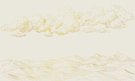 雲 山 版画 イラスト アイボリー アンティークの壁紙 輸入 カスタム壁紙 PHOTOWALL / Between Clouds and Earth - Soft Beige (e318443) 貼ってはがせるフリース壁紙(不織布) 【海外取り寄せのため1カ月程度でお届け】 【代引き・後払い不可】