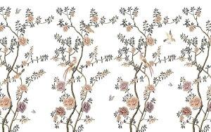 花 鳥 花鳥画の壁紙 輸入 カスタム壁紙 PHOTOWALL / Floraison Chinoiserie (e318843) 貼ってはがせるフリース壁紙(不織布) 【海外取り寄せのため1カ月程度でお届け】 【代引き・後払い不可】