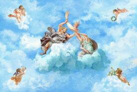 天国 天使 空 雲の壁紙 輸入 カスタム壁紙 PHOTOWALL / Heaven (e319239) 貼ってはがせるフリース壁紙(不織布) 【海外取り寄せのため1カ月程度でお届け】 【代引き不可】 壁紙屋本舗