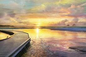 海 雲 空 夕焼け 桟橋の壁紙 輸入 カスタム壁紙 PHOTOWALL / Pink Sunset (e318941) 貼ってはがせるフリース壁紙(不織布) 【海外取り寄せのため1カ月程度でお届け】 【代引き不可】