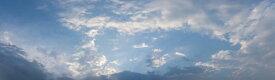 空 雲 自然 パノラマ 青 ブルーの壁紙 輸入 カスタム壁紙 PHOTOWALL / Panoramic Cloudy Sky (e318205) 貼ってはがせるフリース壁紙(不織布) 【海外取り寄せのため1カ月程度でお届け】 【代引き不可】