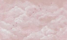 雲 空 鳥 ピンクの壁紙 輸入 カスタム壁紙 PHOTOWALL / Tender Clouds with Swallows - Pink (e320870) 貼ってはがせるフリース壁紙(不織布) 【海外取り寄せのため1カ月程度でお届け】 【代引き不可】