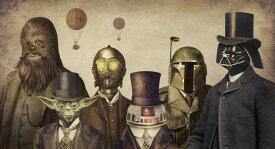 スター・ウォーズ R2-D2 C-3PO ヨーダ ダースベイダー チューバッカ ボバ・フェット キッズ こども部屋 SFの壁紙 輸入 カスタム壁紙 PHOTOWALL / Victorian Wars (e320086) 貼ってはがせるフリース壁紙(不織布) 【海外取り寄せのため1カ月程度でお届け】 【代引き不可】