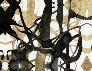 抽象画 黒 ブラック 金 ゴールドの壁紙 輸入 カスタム壁紙 PHOTOWALL / Embellished Luxe (e320255) 貼ってはがせるフリース壁紙(不織布) 【海外取り寄せのため1カ月程度でお届け】 【代引き不可】